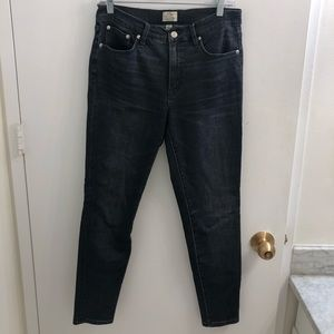 JCrew Washed Black 9 Inch High Rise Skinny Jeans
